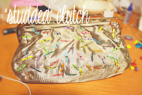 Studded Clutch DIY with Brads
