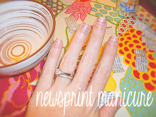 Newsprint Manicure Tutorial
