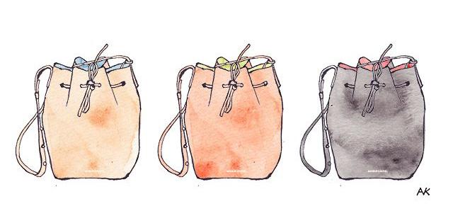 Style Imported Mansur Gavriel Bucket Bag Illustration