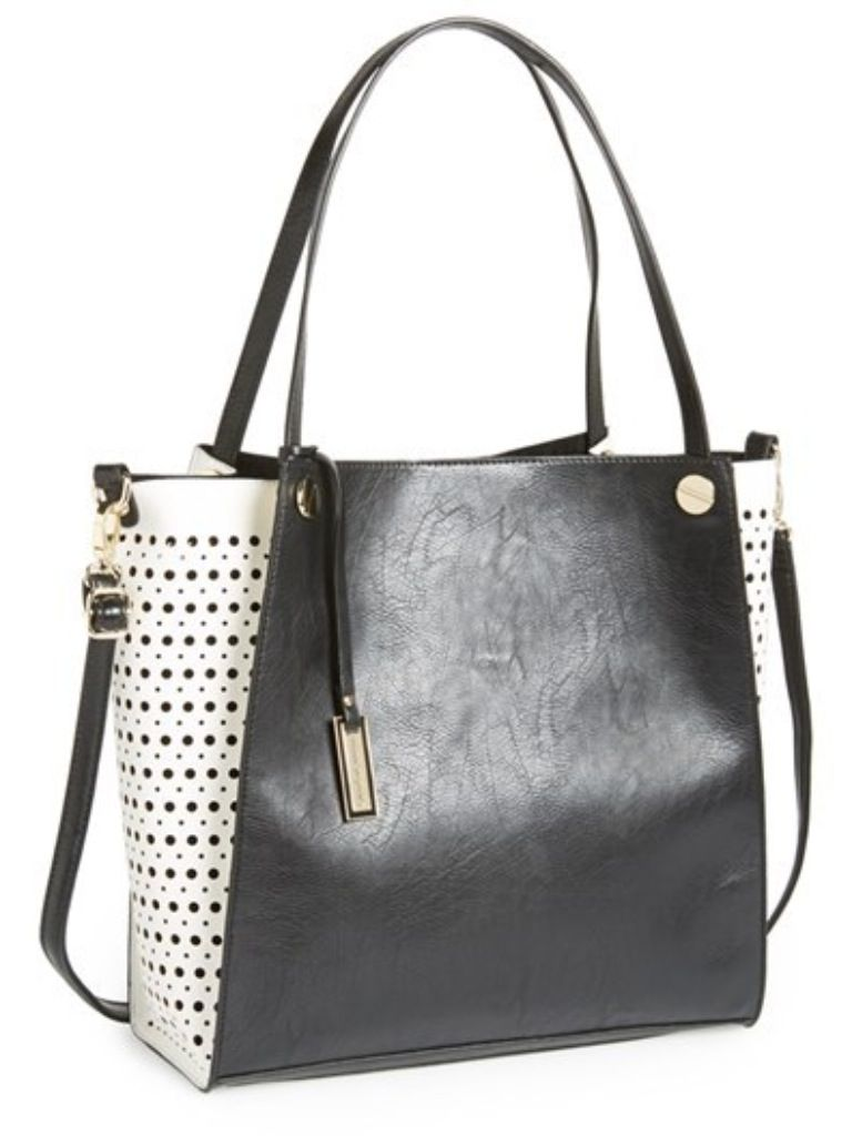 "A Pretty Penny | Summer Carry-alls: Urban Originals ""Wonder Dots"" Faux Leather Tote"