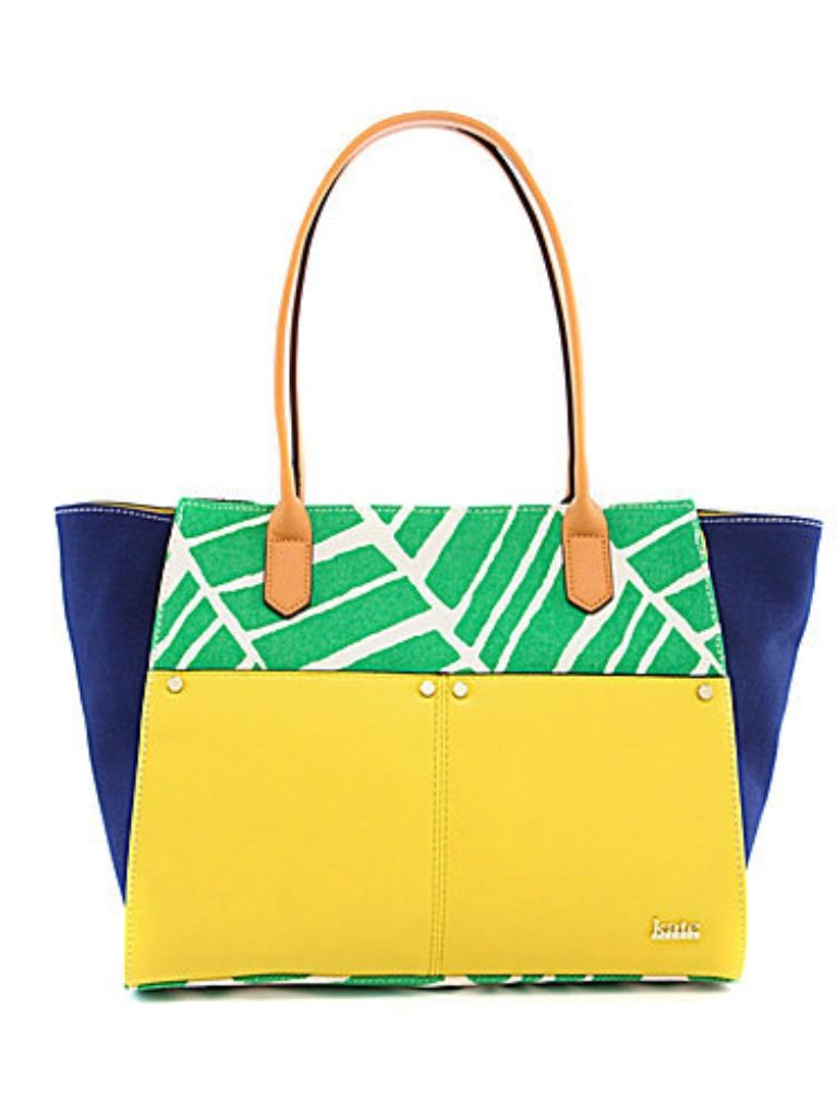 A Pretty Penny | Summer Carry-alls: Kate Landry Palm Print Tote