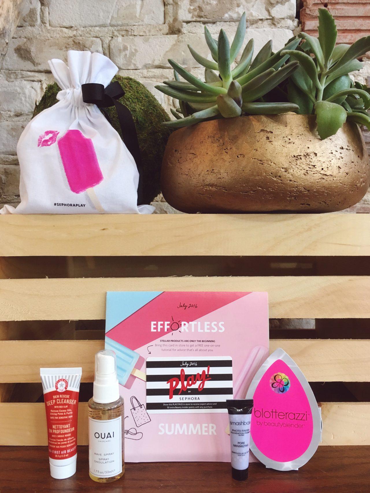Play by Sephora Beauty Box Summer July 2016 | keiralennox.com