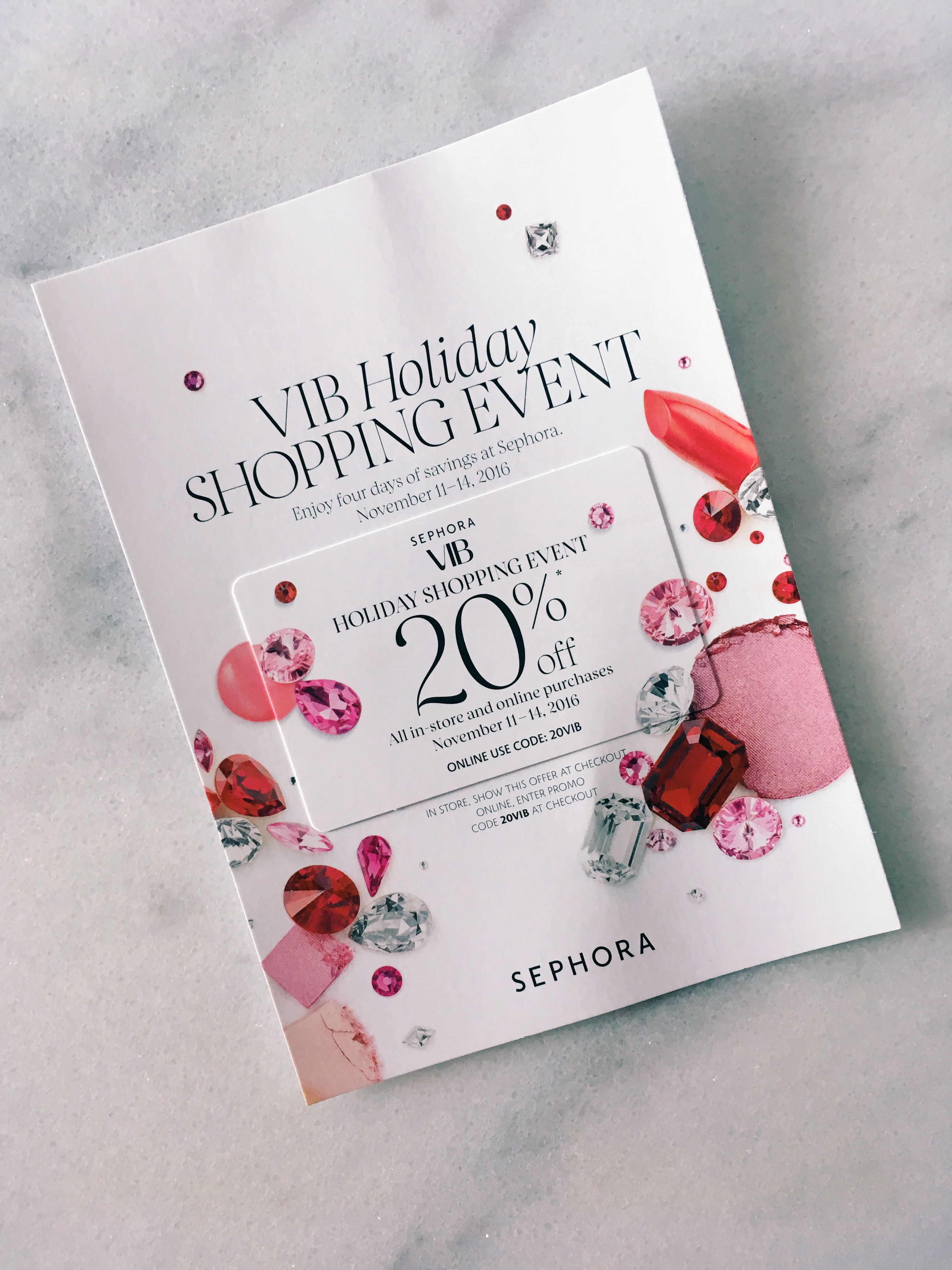 Sephora VIB Holiday Shopping Event 2016