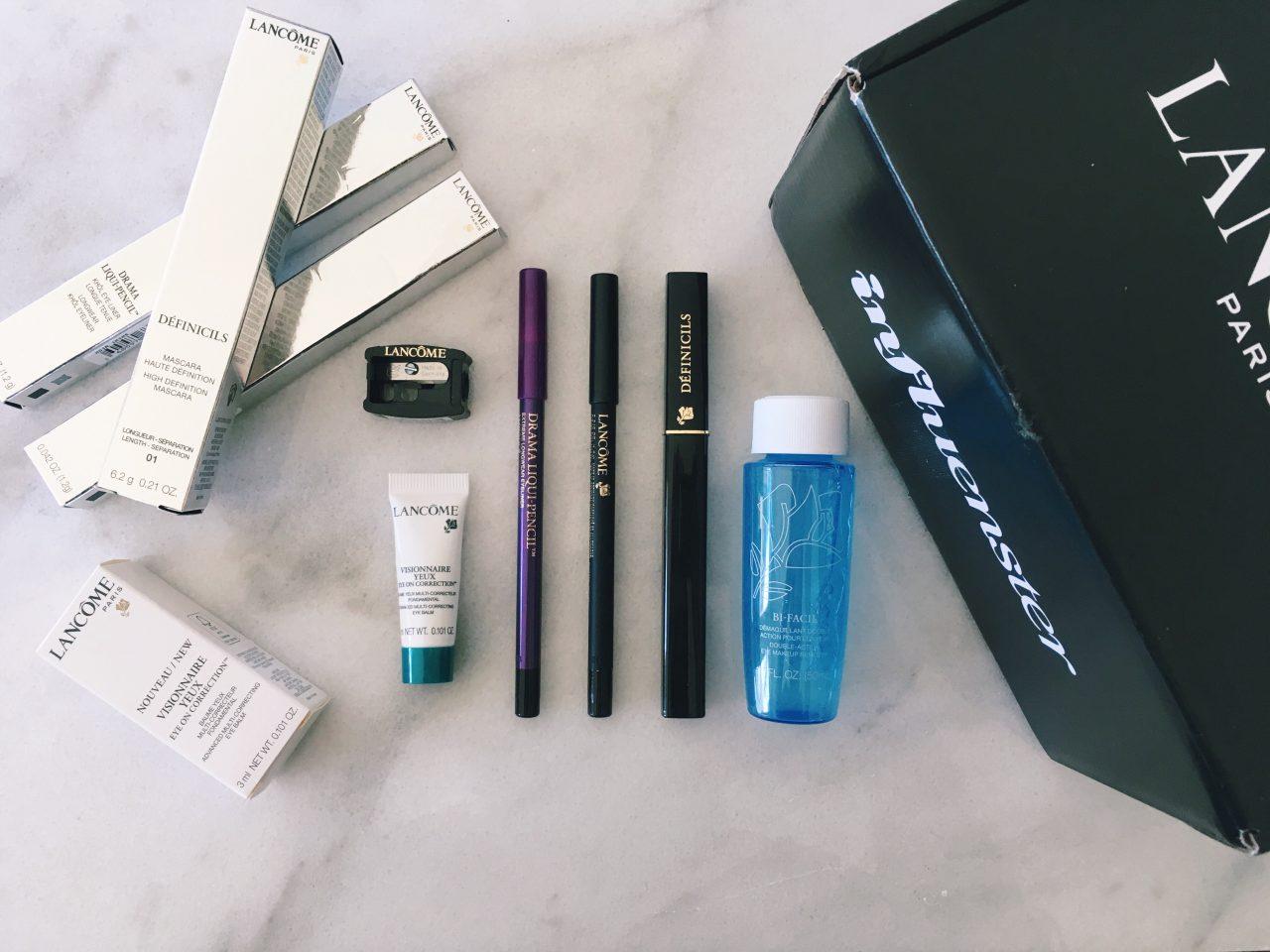 Influenster Lancome VoxBox, Lancome Drama Liqui-Pencil and Definicils Mascara Review, Easy Subtle Purple Eyeliner Look