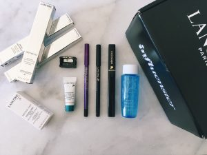 Influenster Lancome VoxBox, Lancome Drama Liqui-Pencil and Definicils Mascara Review, Easy Subtle Purple Eyeliner Look