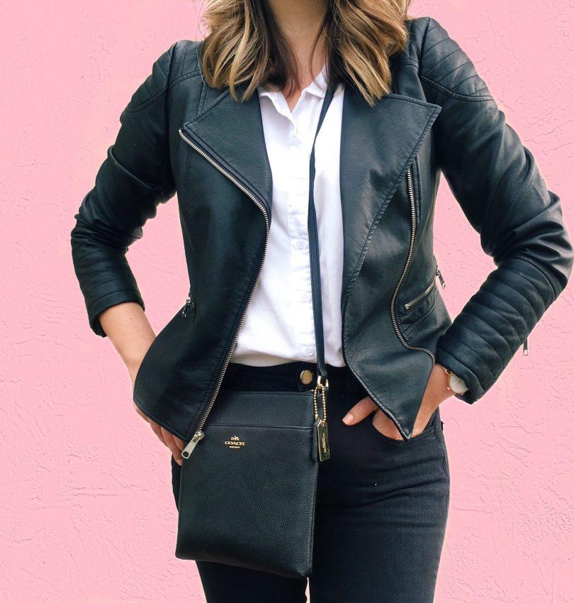 Faux Leather Biker Jacket, Wardrobe Staples, Capsule Wardrobe, Style Blog, Budget Style