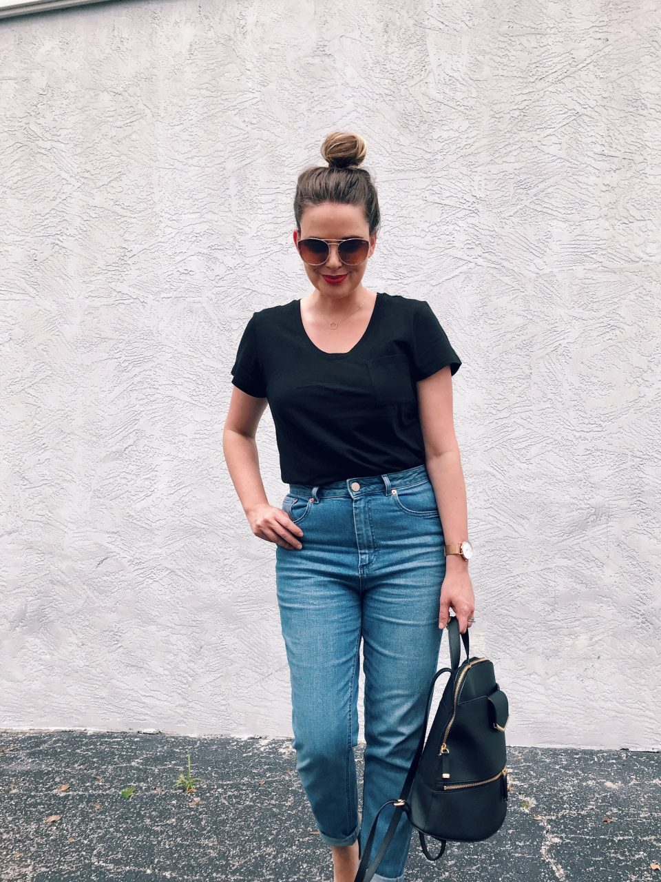 ASOS Farleigh Slim Mom Jeans in Prince Wash, Modern Mom Jeans, High Waist Denim Trends, Style Blog