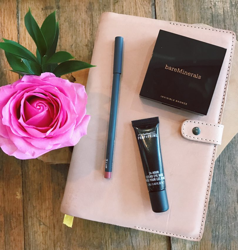 August Favorites: Best Self Success Journal, bareMinerals Invisible Bronze, Bite Beauty The Lip Pencil 022, MAC 24-hour Extend Eye Base, Beauty Blog
