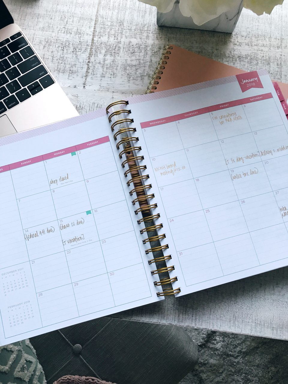 Day Designer Blue Sky Binder Planner, Daily pages
