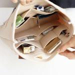 handbag organizer, drop in purse organizer, purse organization tips