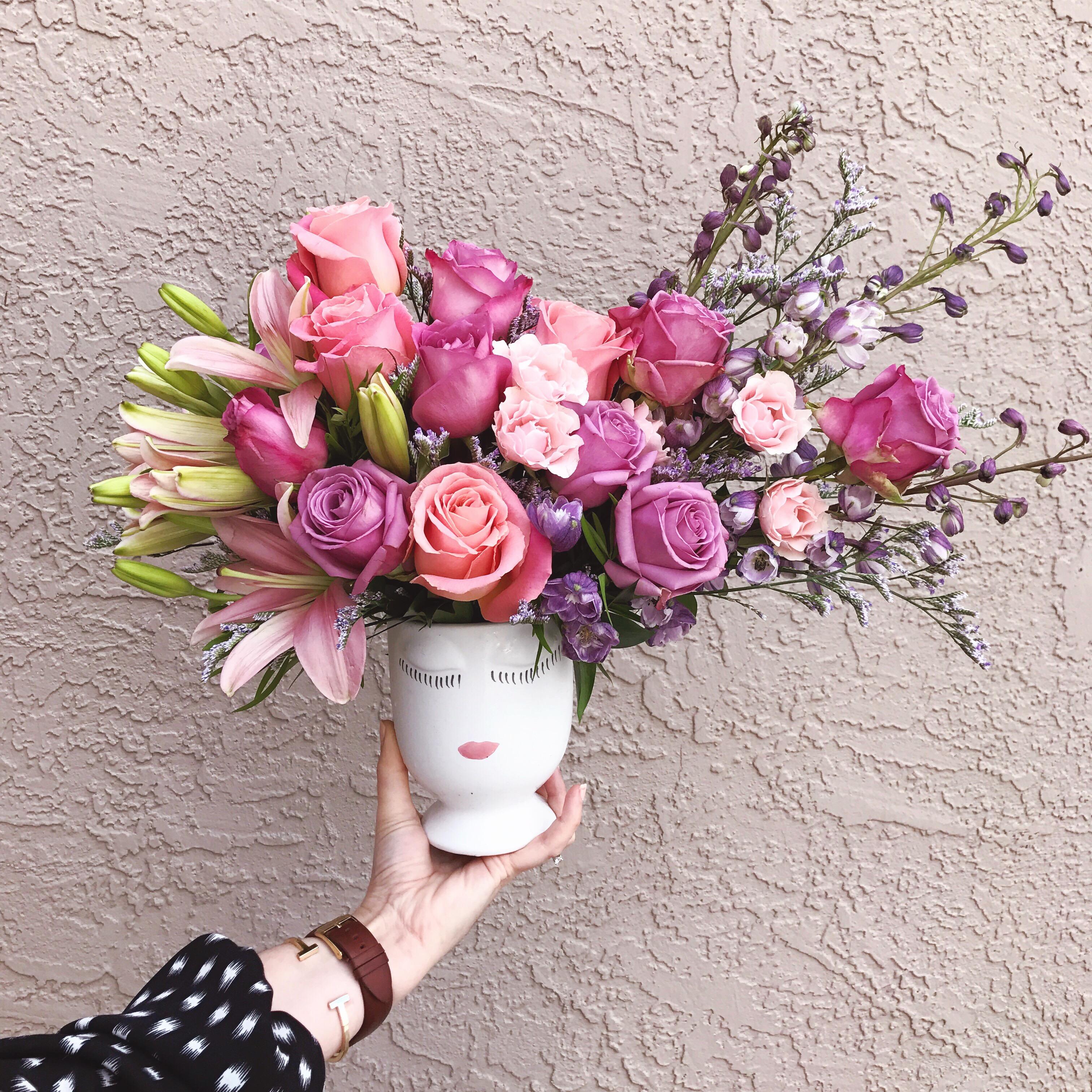 Celfie Vase Floral Design