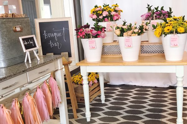 How To Set Up A DIY Fresh Flower Bouquet Bar For Your Next Shower Or Party