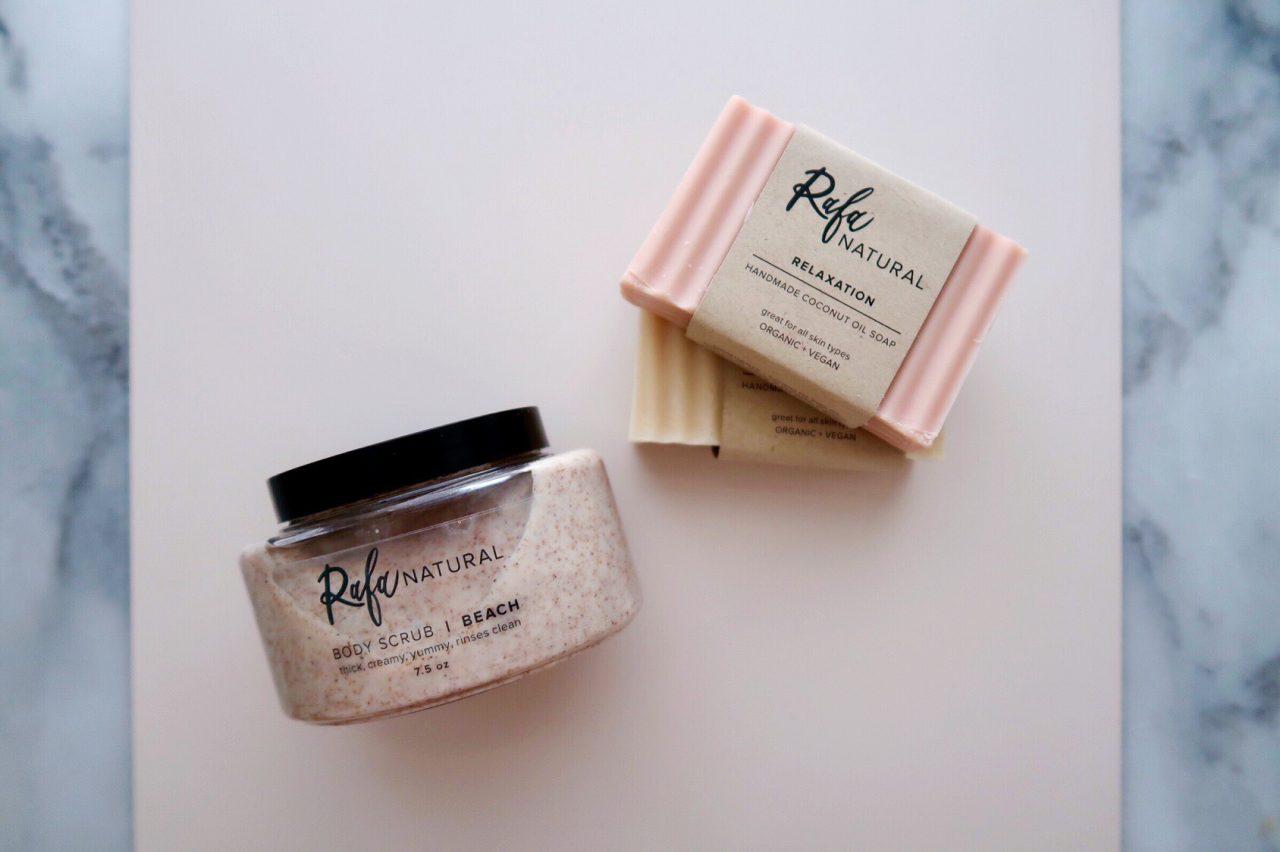 Rafa Natural Beach Body Scrub and Coconut Oil Soap