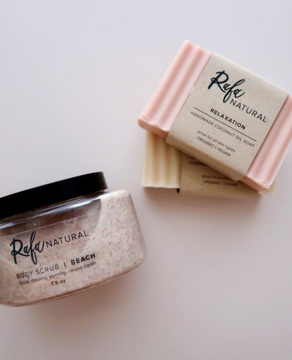 Rafa Natural Beach Body Scrub and Coconut Oil Soap