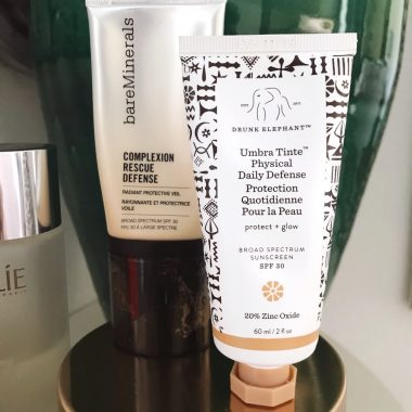 My Morning Skin Care Routine - Drunk Elephant Umbra Tint SPF and bareMinerals Complexion Rescue Defense Radiant Tint protective moisturizer