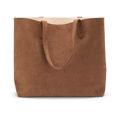 Cuyana Suede Structured Tote