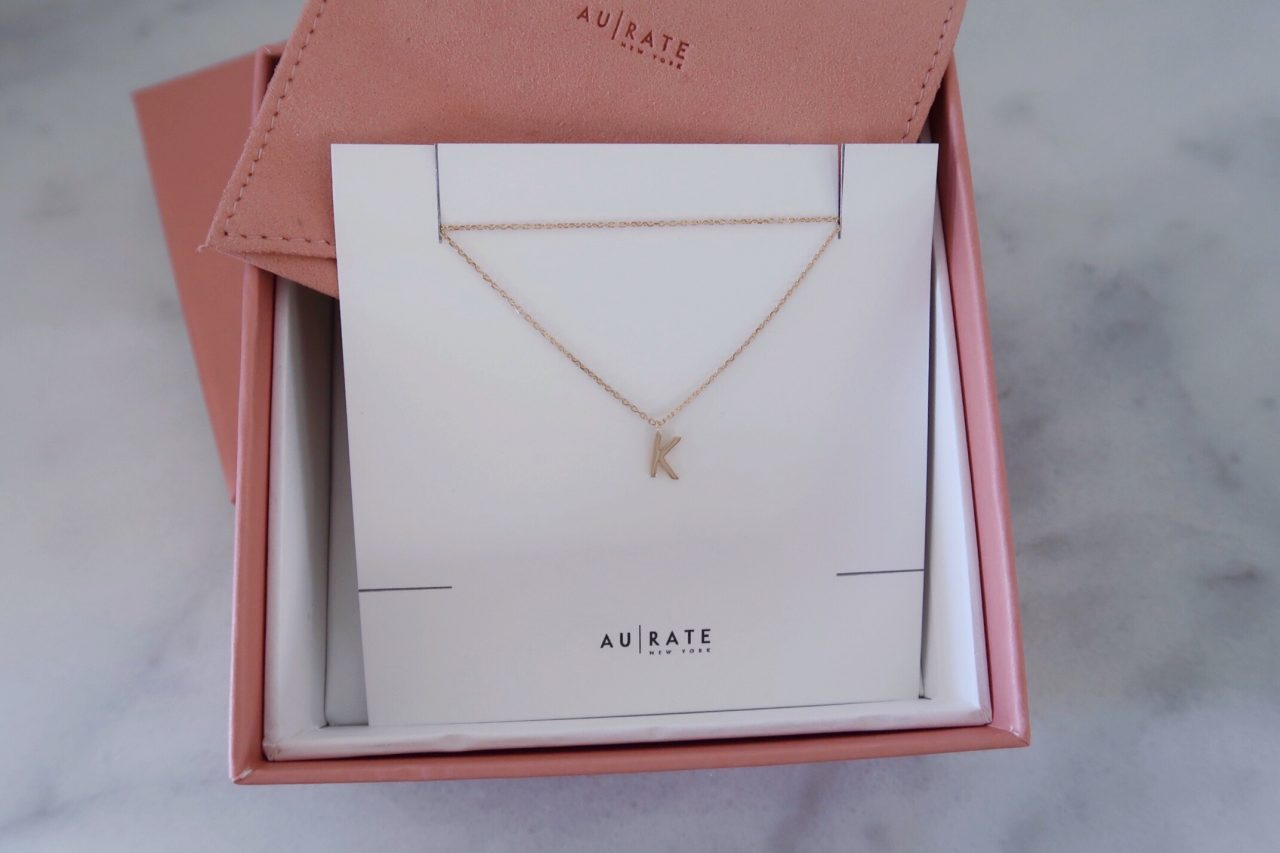 AU-Rate Solid Gold Initial Personalized Necklace