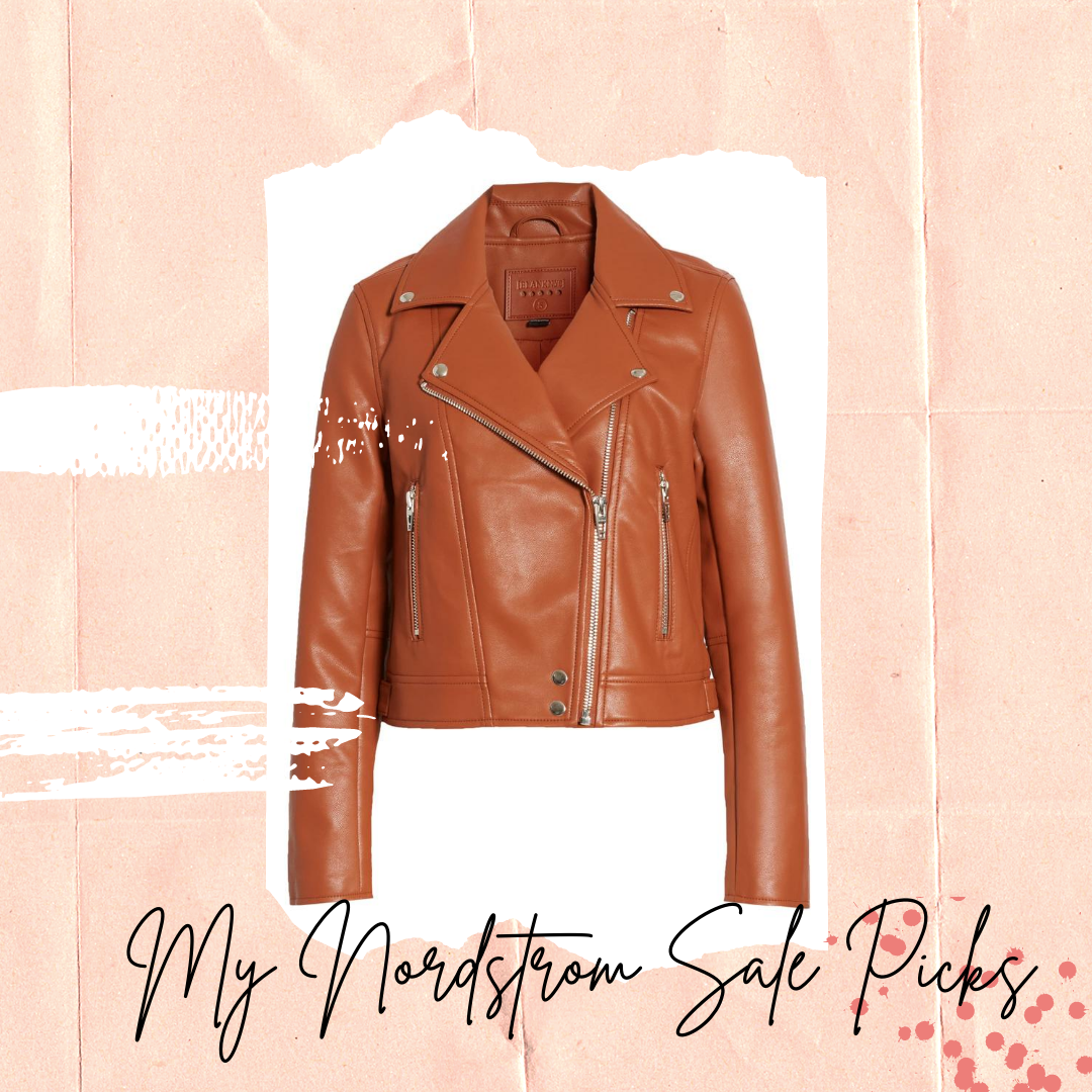 Nordstrom Anniversary Sale BLANKNYC Good Vibes Faux Leather Moto Jacket